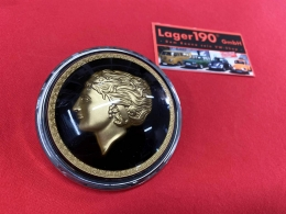 Hupenknopf Golden Lady 3D Flat4 für VW Käfer -55 und Banjo Lenkrad (9580)