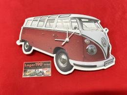 Wanduhr VW Bus T1 rot