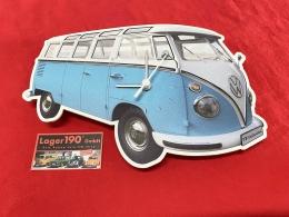 Wanduhr VW Bus T1 blau