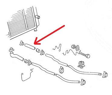 -419 Kühlwasser Schlauch Kühler zum Wasserrohr VW Bus T3 1.6 1.9 1,7 2.1