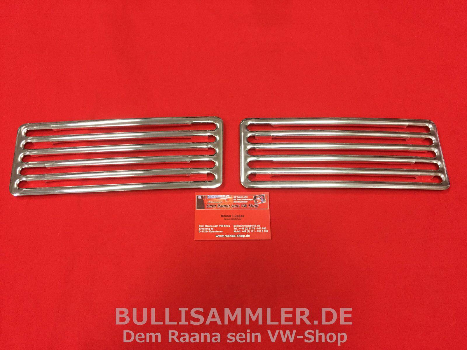 Ziergitter chrom für VW Käfer 1200 1302   NEU