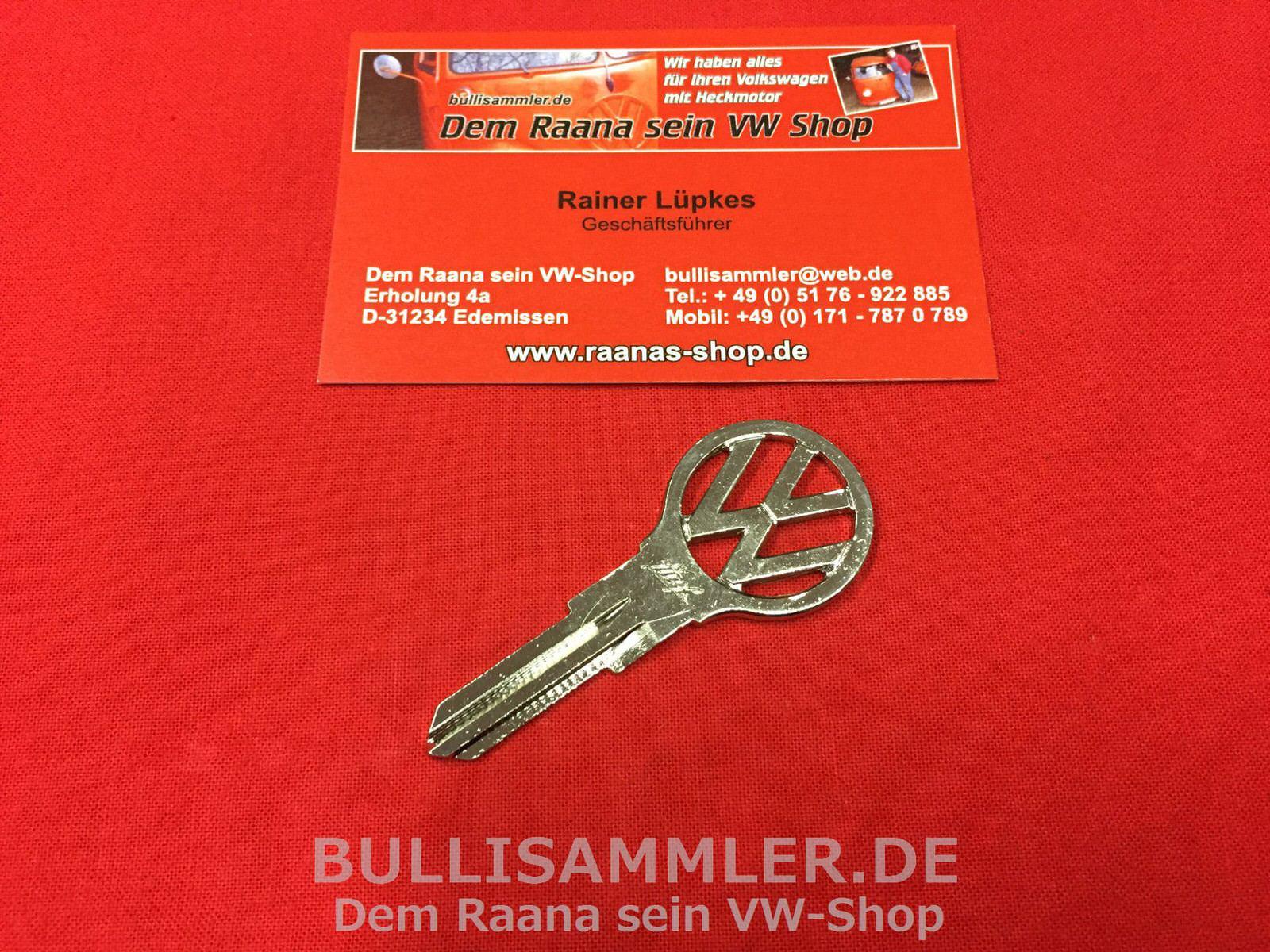 """VW T3 Schlüsselrohling /""""Profil N/"""" T3 ORIGINAL VW Zündschlüssel"""