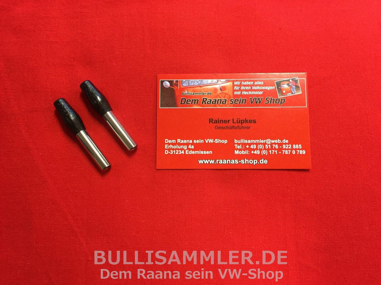 Stopfen für VW Käfer 61 Verschluss Kappe Türschraube schwarz 0716