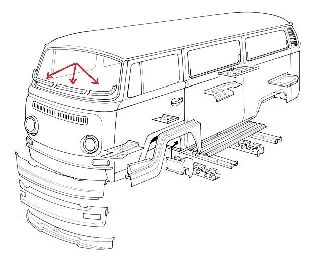 vw volkswagen bus bulli bully t2 rep blech. Black Bedroom Furniture Sets. Home Design Ideas