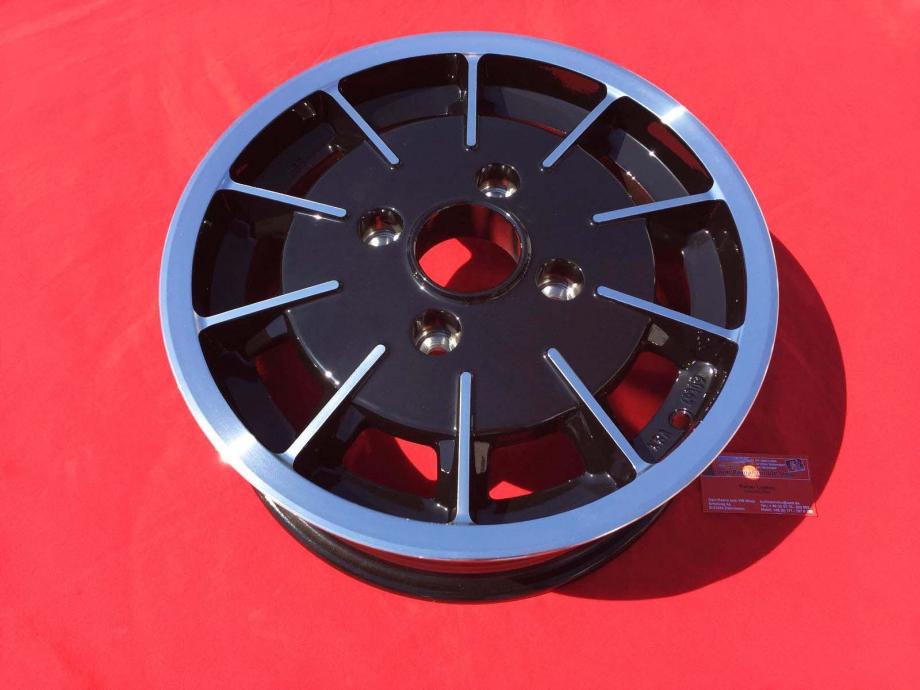 Gasburner 5.5x15 4x130 ET35 MIT TÜV/ABE - schwarz/poliert - (81-089)