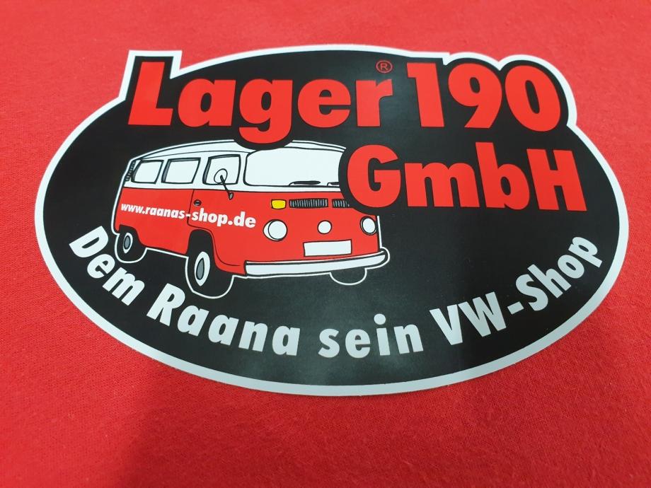 Aufkleber Lager190 GmbH, rund, 15x10cm (22-016)