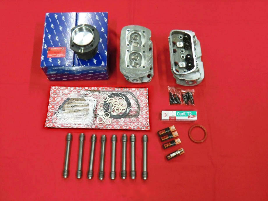 VW Käfer T1 T2 Typ1 1600ccm SET Kolben + Zylinder Bleifrei Zylinderköpfe LANGGEWINDE