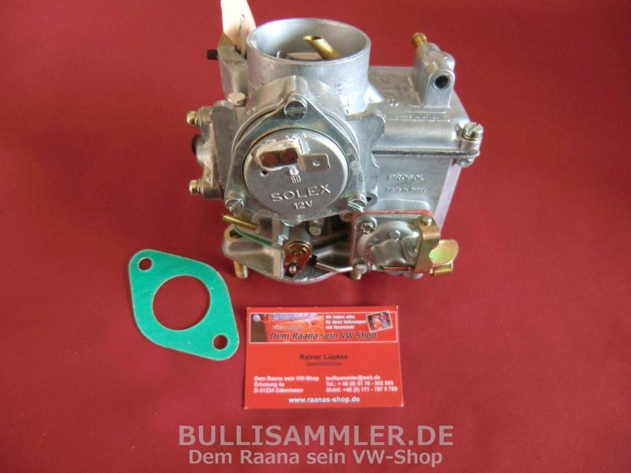 VW Käfer, Bus T1, Vergaser Solex Brosol 30/31 PICT 30PICT-3, 31PICT-3 (2141)