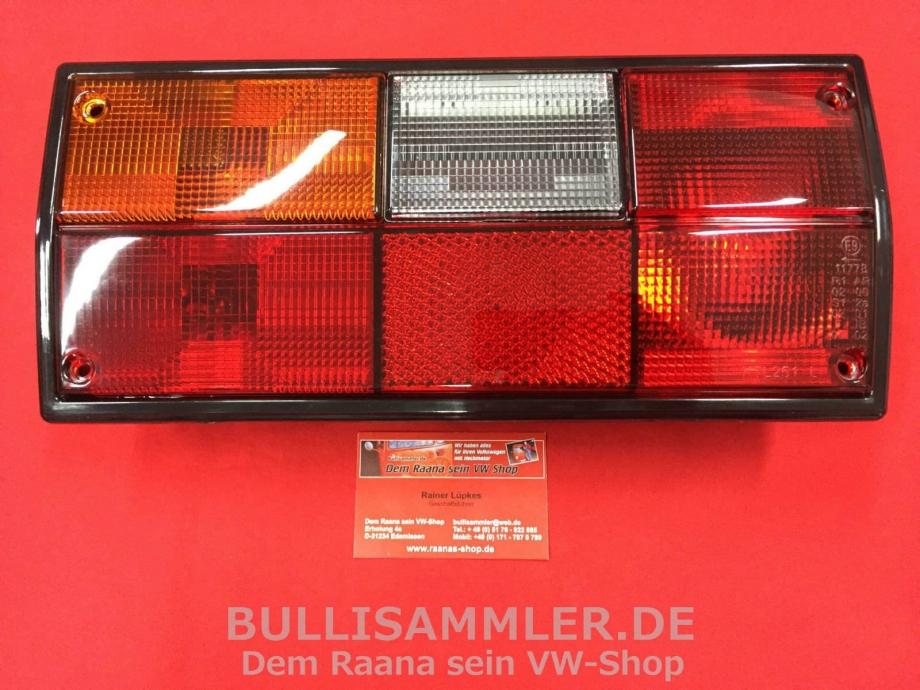 VW Bus T3 Rückleuchte orange/weiß/rot links MIT PRÜFNUMMER (45-316)
