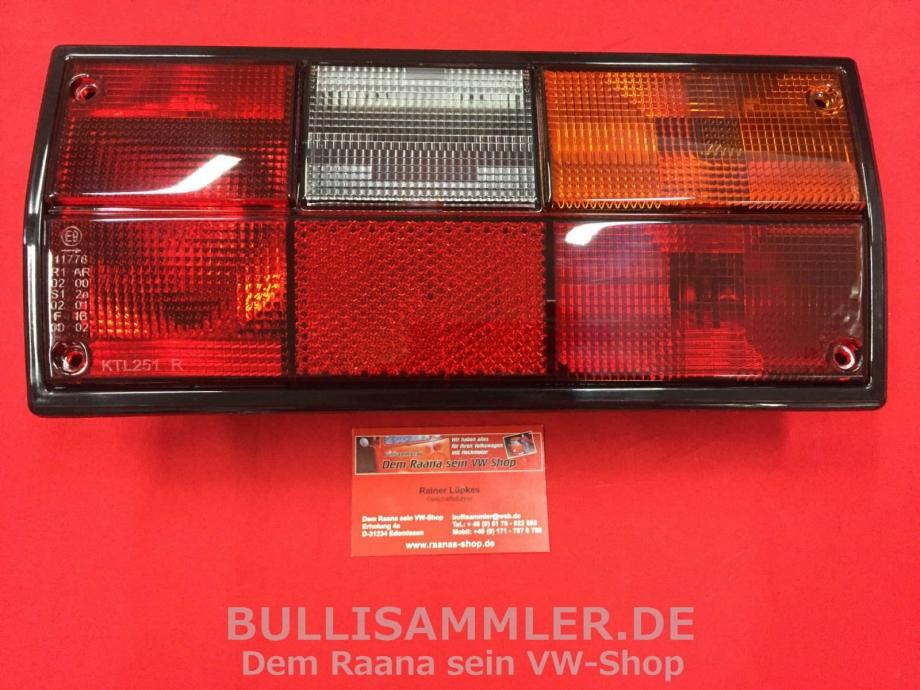 VW Bus T3 Rückleuchte orange/weiß/rot rechts MIT PRÜFNUMMER (45-317)