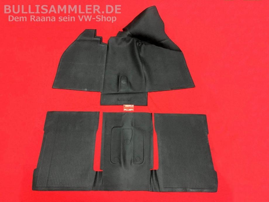 VW Käfer ab 08/72- Gummimatte Bodenbelag vorne + hinten (0538-2)