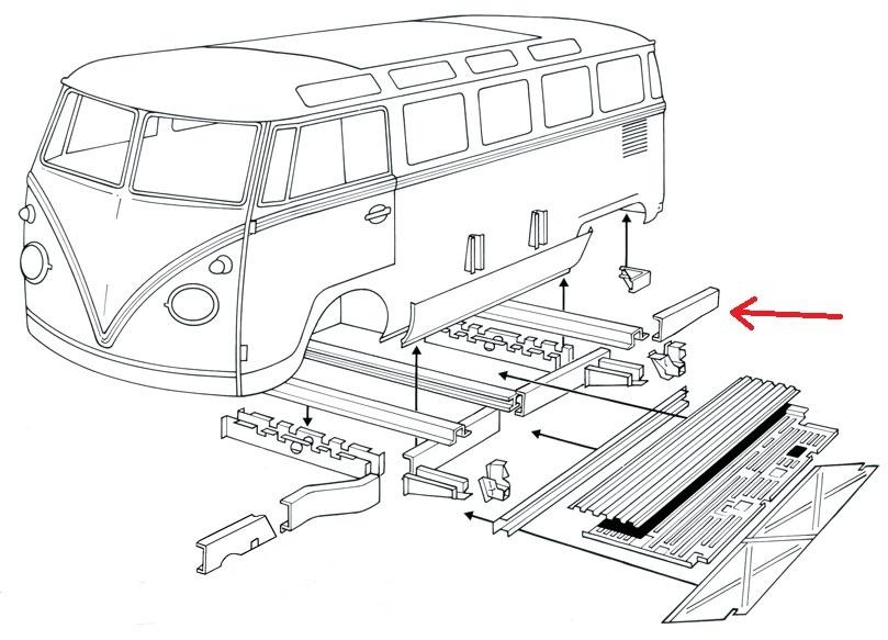 1969 vw van wiring diagram database 1972 VW Beetle 0890 70l bus bulli t1 rep blech reparaturblech rahmenblech 1974 vw van 1969 vw van