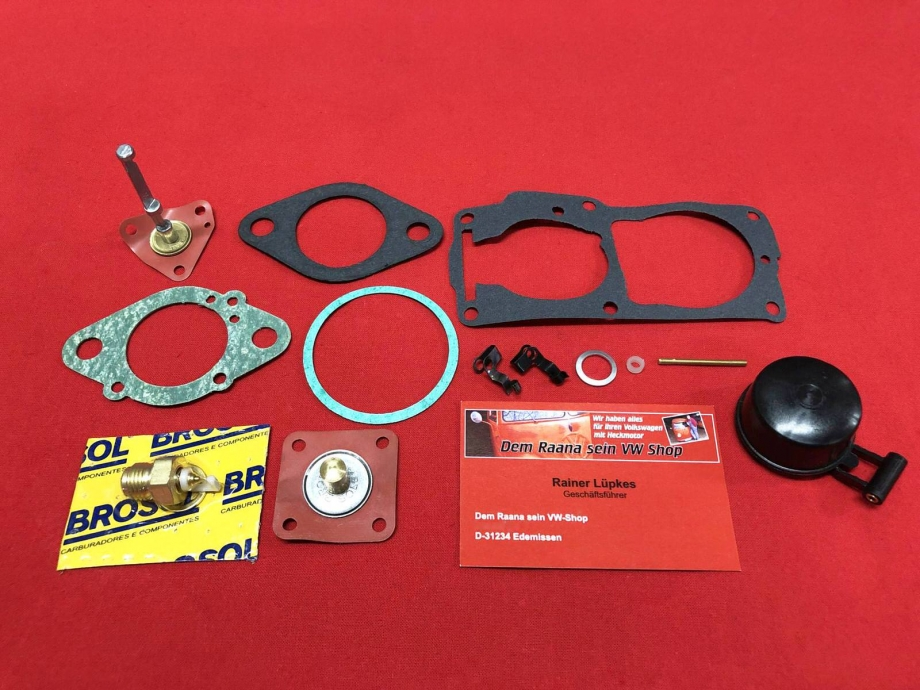 32/34 PDSI Dichtsatz Vergaser links VW Bus T2 8/71- Typ4-Motor Brosol (2130-700)