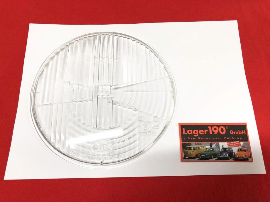 VW Käfer 68-73, Bus T2 68-73, HELLA klar H4 Glas Hauptscheinwerfer (-110)