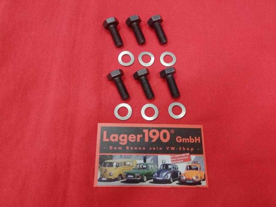 VW Käfer, Bus T1, T2 Hochfeste M8 Schraube für die Druckplatte 6 Stück (1515-500)