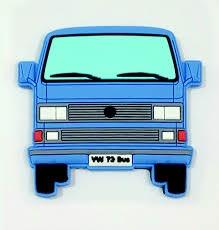 Softmagnet VW Bus T3 blau