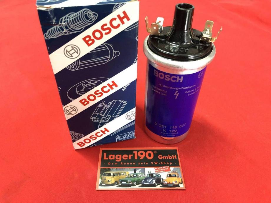 Hochleistungszündspule Bosch 12V für VW Käfer, Bulli, Porsche (17-001)