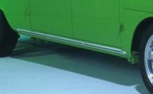 VW Bus Bulli T1 Schwellerleisten Leisten mit schwarzem Infill (11-001)