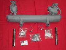 Auspuff Set für Käfer Schalldämpfer 1300-1600 einfache Vorwärmung (45-044)