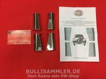 Scharnierabdeckung Chrom für Türen vom VW Käfer (01-005)