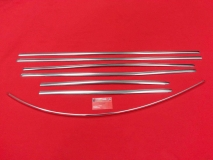 VW Käfer 10.52 - 07.62 Satz Zierleisten Brezel Ovali (0402-5)