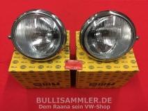 VW Bus T1 50-67 Scheinwerfer rechts+links HELLA Paar (0600-5/-6)