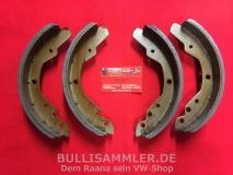 T2 08.71-07.72 Bremsbacken hinten Bremsbeläge komplett (1238-1)