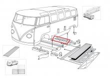 VW Bus T1 55-67 Reparaturblech Querträger Mittelteil hinten (0890-63)