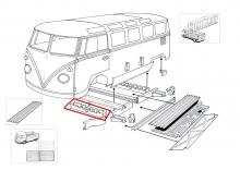 VW Bus T1 55-67 Reparaturblech Querträger Mittelteil vorne (0890-62)