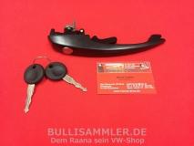 VW Käfer 67- Türgriff Schloss vorne mit Schlüssel schwarz (-045)