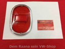 VW Bus T1 T2a Rücklichtglas Rückleuchtenglas Hella rot/rot (17-030)
