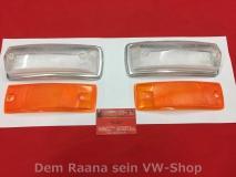 VW Bus T2 T2a 08.67 - 07.72 Blinkerglas für Blinker Hella Orange