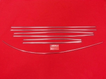 VW Käfer ab 8/72 Zierleisten Zierleistensatz Chrom poliert (0403-6)