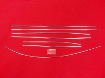 VW Käfer 8/66-7/67 Zierleisten Zierleistensatz Chrom poliert (0403-1)