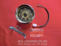 VW Käfer, Bus T1 -67 Drehzahlmesser -6000 Nadelstreifen-Design 80mm (10-009)