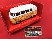 Modellauto VW Bus T1 VW 1962 Hippie Welly Maßstab 1:34