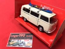 Modellauto VW Bus T2 + Surfbrett Welly, Maßstab 1:34