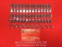 VW Käfer -7/66 Typ 3 7/63 - 7/66 Klammern Clips Türverkleidung 66 Stück (0409)