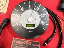 VW Bus T2 08.67-07.71 12V elektrischer Tachometer 150km/h grau (10-010)