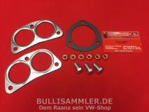 VW Bus Typ4 Montagesatz Anbausatz Auspuff original HJS komplett