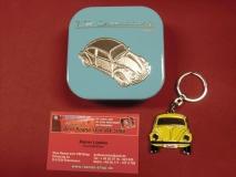 VW Käfer Schlüsselanhänger Gelb Metall