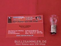 Glühbirne 12V 21/5W Zweifaden Bremslicht / Rücklicht (0661-23)
