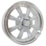 SSP EMPI GT 8-Spoke weiß/poliert 4x130 5.5x15 - ohne TÜV -