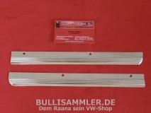 VW Käfer 1303 Zierleistensatz Seite vorne Chrom poliert (0477)