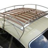 Dachgepäckträger für Karmann Ghia Typ14 Edelstahl + Holzlatten (4870-102)