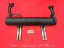 Auspuff für Käfer 1300-1600 4-Rohr Endrohr Abarth Style NEU (17-010)