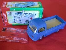 VW Bus T2 KOVAP Pritsche blau Modellauto 1:43