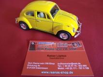VW Käfer gelb ca. 13cm mit Rückzugmotor KINSMART