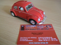 VW Käfer rot ca. 13cm mit Rückzugmotor KINSMART