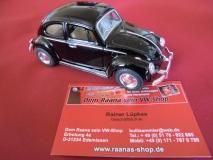 VW Käfer schwarz ca. 13cm mit Rückzugmotor KINSMART